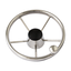 Stearing wheel ø28cm, stainless steel, with fast crank